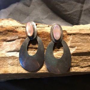 Mother of Pearl & Sterling Earrings